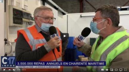 Interview de Robert Gaillard, président de la Banque Alimentaire de Charente Maritime